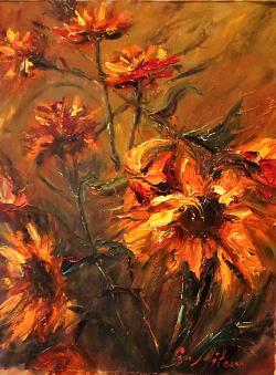 Picturi cu flori RAZE DE SOARE I