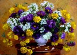 Picturi cu flori Stelute colorate