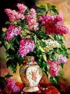Picturi cu flori Vaza cu lilac