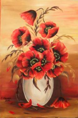 Picturi cu flori Maci 002