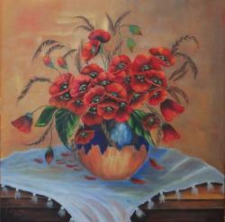 Picturi cu flori Maci 004