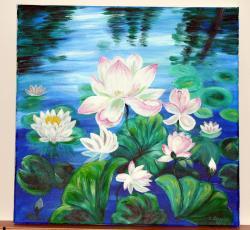 Picturi cu flori Nuferi 001