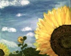 Picturi cu flori Hello