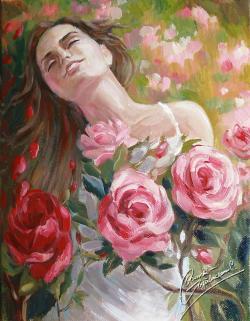 Picturi cu flori studiu-trandafirii