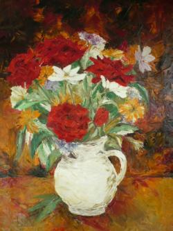 Picturi cu flori  FLORI IN CANA