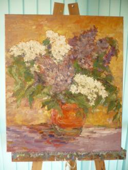 Picturi cu flori liliac c