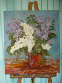 Picturi cu flori liliac c 3