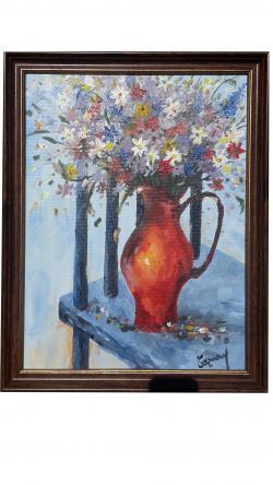 Picturi cu flori Natura statica cu flori de camp