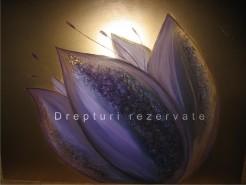 Picturi cu flori Floarea violet