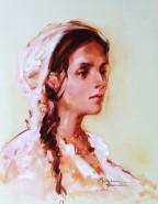 Picturi cu flori Cap,de femeie