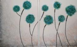 Picturi cu flori Secret garden
