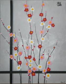Picturi cu flori Ume - Prun Inflorit