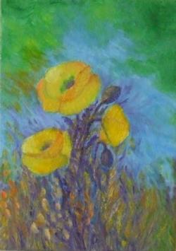Picturi cu flori Aparitii galbene