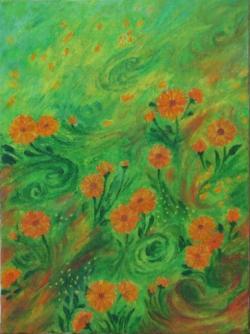 Picturi cu flori Dans cu galbenele