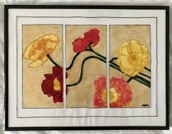 Picturi cu flori Flori și raze de soare