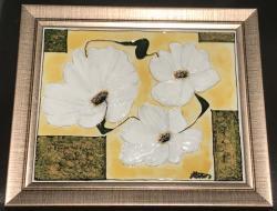 Picturi cu flori Margarete albe