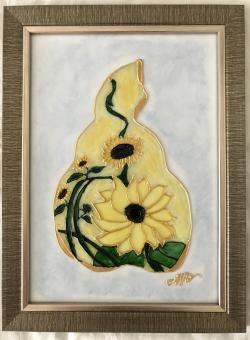 Picturi cu flori O pară și florile soarelui