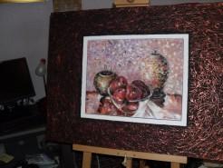 Picturi cu flori Mere rosii