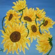 Picturi cu flori Floarea soarelui 01