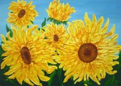 Picturi cu flori Floarea soarelui 02