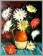 Picturi cu flori Crizante