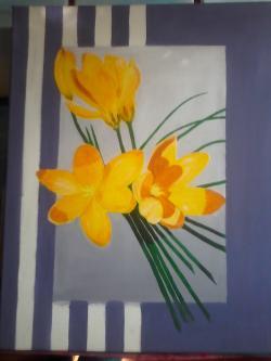 Picturi cu flori flori in rama