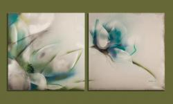 Picturi cu flori turquoise