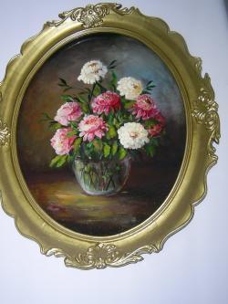 Picturi cu flori Vas cu bujori