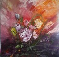 Picturi cu flori Cu trandafiri