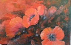 Picturi cu flori MACI b1