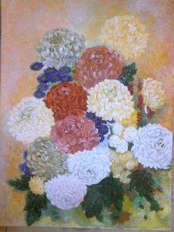 Picturi cu flori Buchet de Crizanteme