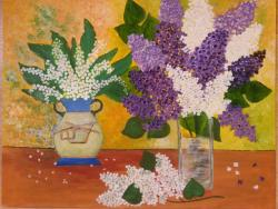 Picturi cu flori Flori de Liliac cu Lacramioare