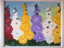 Picturi cu flori Gradina cu nalbe