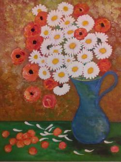 Picturi cu flori Luna Margaretelor