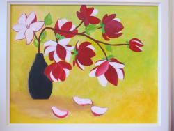 Picturi cu flori Magnolii Rosii