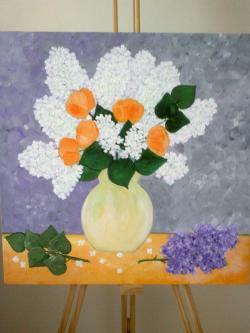 Picturi cu flori Parfum de Liliac