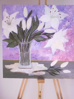Picturi cu flori Parfumul Crinilor