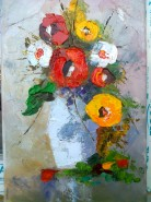 Picturi cu flori Anemone cu maci 2