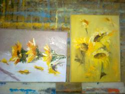 Picturi cu flori MINIATURI  BOGATIE