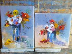 Picturi cu flori miniaturi cu flori