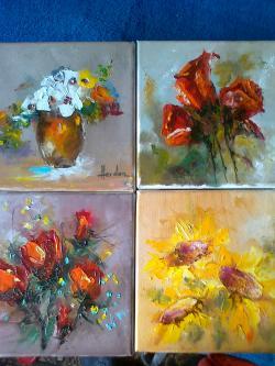 Picturi cu flori MINIATURI FLORALE