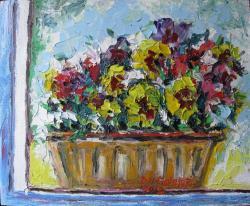 Picturi cu flori PANSIES