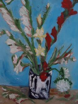 Picturi cu flori gladiole  cod 0007