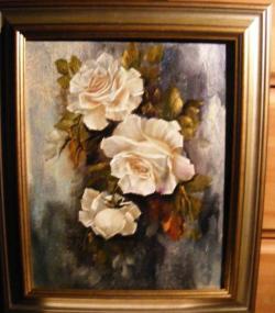 Picturi cu flori 3 roze