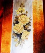 Picturi cu flori Abstract cu trandafiri galbeni 1