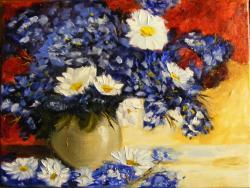 Picturi cu flori Albastrele albastrele