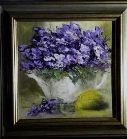 Picturi cu flori Ceainicul cu violete
