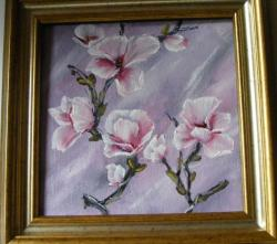 Picturi cu flori Creanga cu magnolii