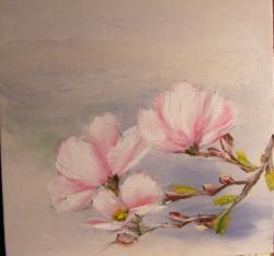 Picturi cu flori Creanga cu magnolii 1
