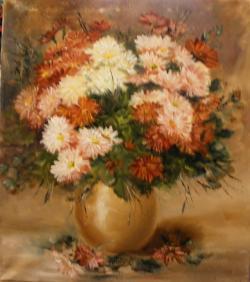 Picturi cu flori Crizanteme multicolore